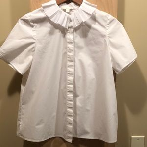 COS white blouse with pleated collar